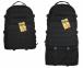 Тактический туристический супер-крепкий рюкзак трансформер 45-65 литров чёрный Кордура POLY 900 ден 5.15.b 0