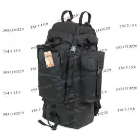 Туристический армейский супер-крепкий рюкзак на 75 литров Чёрный ОРТОПЕДИЧЕСКИЙ Нейлон 1200 den, TM 5.15.b