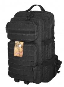 Тактический, штурмовой крепкий рюкзак 38 литров черный, TM.5.15.b