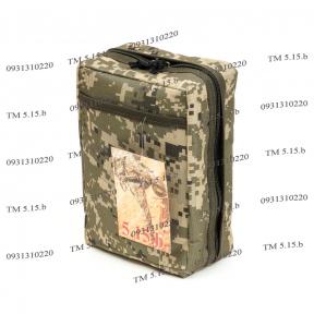 Подсумок для аптечки военной образца НАТО Украинский пиксель, TM 5.15.b