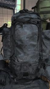 Туристический тактический армейский супер-крепкий рюкзак 100 литров Атакс Черный, Кордура 900 ден TM.5.15.b