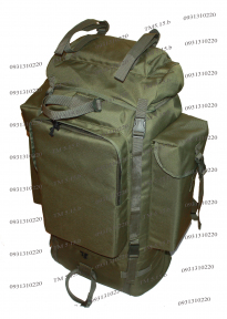 Туристический тактический армейский супер-крепкий рюкзак 100 литров Олива, Кордура 900 ден, TM.5.15.b