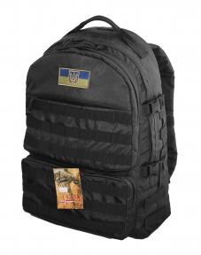 Тактический походный супер-крепкий рюкзак на 40 литров Черный с ортопедической спиной, TM 5.15.b