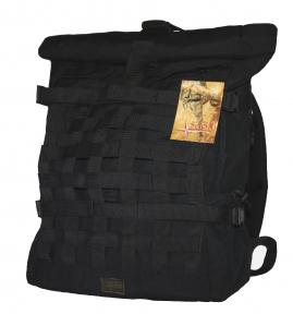Роллтоп, городской рюкзак Милитари 30 литров Черный Rolltop. TM 5.15.b