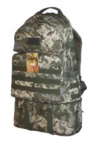 Тактический армейский крепкий рюкзак трансформер 40-60 литров Пиксель, TM 5.15.b