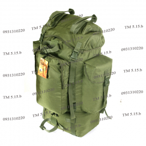 Туристический тактический армейский супер-крепкий рюкзак 75 литров Олива. Кордура 1000 ден, TM 5.15.b