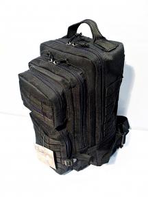 Тактический армейский супер-крепкий рюкзак 25 литров Черный, TM 5.15.b