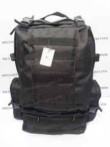 Тактический армейский супер-крепкий рюкзак 50 литров Черный, TM 5.15.b