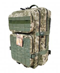 Тактический армейский походный штурмовой 3-х дневный рюкзак на 50 литров Украинский пиксель  Cordura 1000D, TM 5.15.b