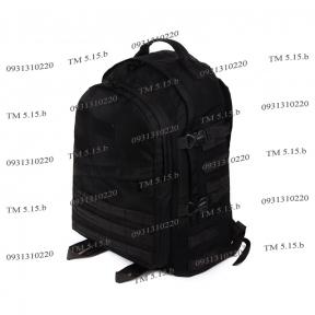 Тактический армейский супер-крепкий рюкзак c органайзером 40 литров Черный. Кордура 500 Ден.+ПОЯСНОЙ РЕМЕНЬ. TM 5.15.b