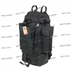 Туристический армейский супер-крепкий рюкзак на 75 литров Чёрный. Нейлон 1200 den, TM 5.15.b