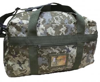 Тактическая крепкая сумка 50 Литров. Экспедиционный баул. Пиксель. ВСУ, TM.5.15.b
