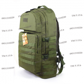 Тактический армейский крепкий рюкзак 60 литров Олива, TM 5.15.b