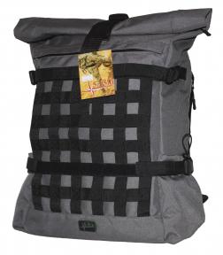Роллтоп, городской рюкзак Милитари 30 литров Серый Rolltop Grey TM 5.15.b