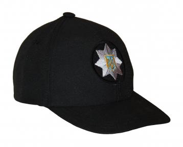 Тактическая кепка-бейсболка шестиклинка черный с кокардой