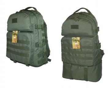 Тактический армейский крепкий рюкзак трансформер 40-60 литров Олива, TM 5.15.b