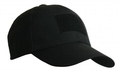 Тактическая кепка-бейсболка шестиклинка черный размер M, L, XL