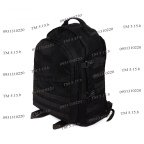 Тактический армейский крепкий рюкзак c органайзером 40 литров Черный, TM 5.15.b