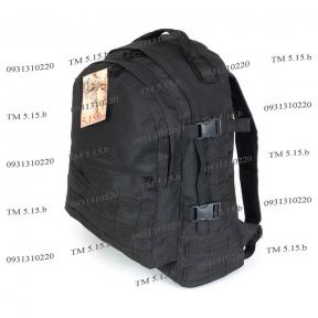 Тактический армейский Супер-крепкий рюкзак 30 литров Черный, кордура 500 ден, TM 5.15.b
