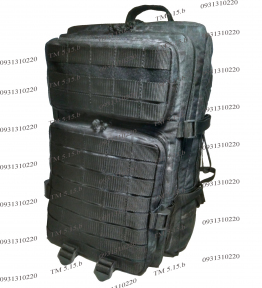 Тактический, штурмовой супер-крепкий рюкзак 38 литров, Атакс черный, TM.5.15.b