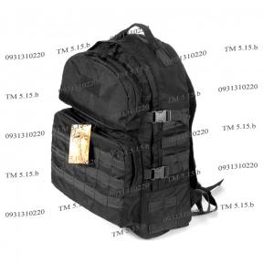 Тактический армейский репкий рюкзак 40 литров Черный, TM 5.15.b