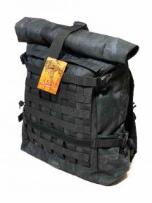 Роллтоп, городской рюкзак Милитари 30 л.  Атакс черный Rolltop TM 5.15.b