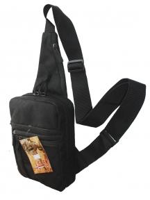 Тактическая барсетка плечевая для скрытого ношения Черная