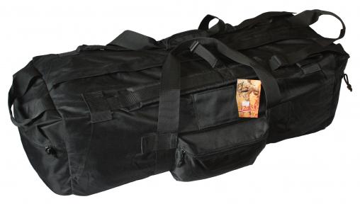 Тактическая супер-крепкая сумка 75 литров. Экспедиционный баул. Черный, TM.5.15.b