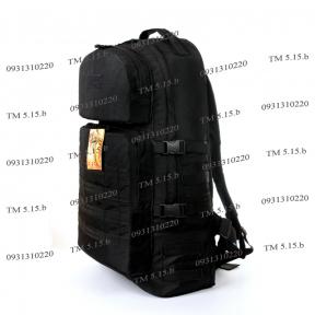 Тактический армейский крепкий рюкзак 60 литров Черный, TM 5.15.b