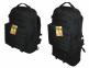 Тактический туристический крепкий рюкзак трансформер 45-65 литров чёрный 5.15.b