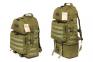 Тактический армейский супер-крепкий рюкзак трансформер 40-60 литров Олива, Кордура POLY 900 ден TM 5.15.b